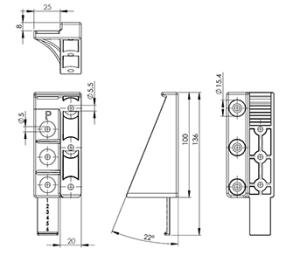 Montážní konzole - pro okenicové hliníkové plotové výplně.