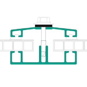 Spojovací profily - dolní lišta 71009 a kryčí lišta