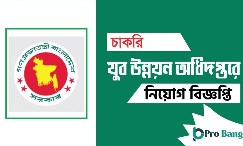 Department of youth development job Circular 2020