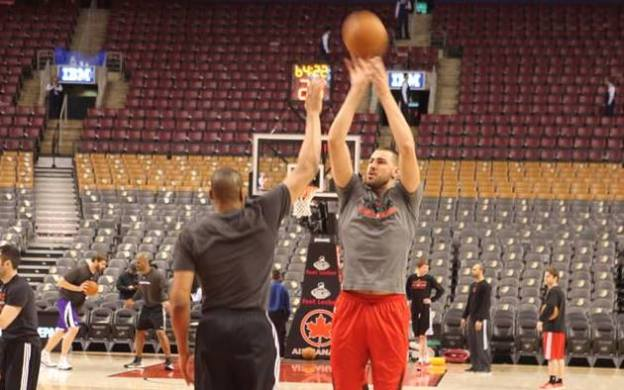 Jonas Valanciunas practice shot by Paul Saini (Fylmm