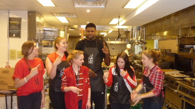 Amir Johnson & staff 3