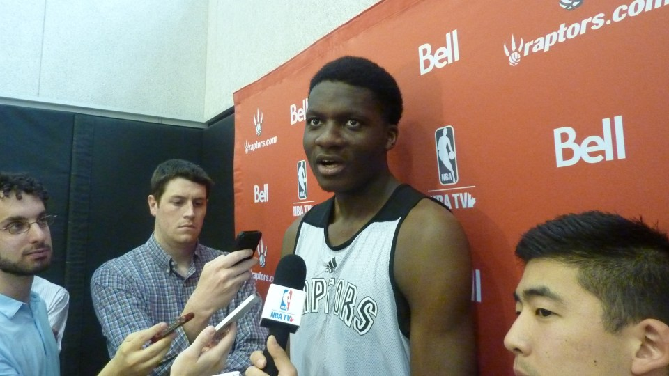 Clint Capela media scrum