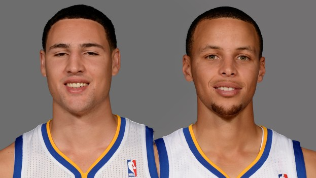 NBA Golden State Warriors Stephen Curry and Klay Thompson