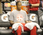 DeMar DeRozan sitting at warmups by Paul Saini FYLMM