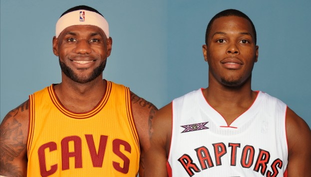 Lowry and LeBron James