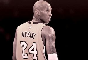 Kobe Bryant looking back
