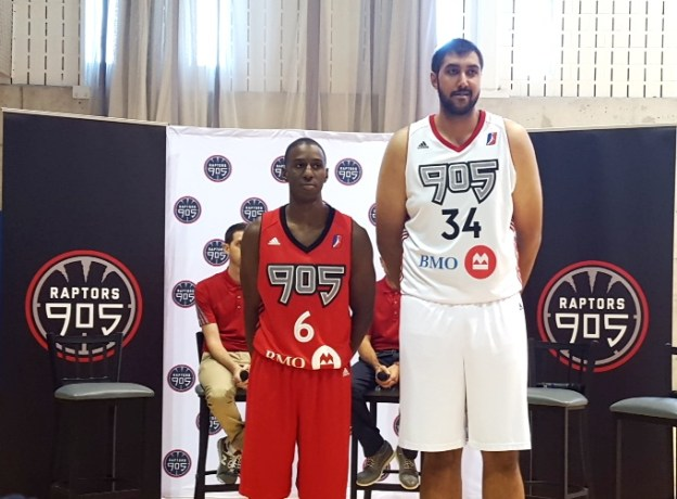 NBA D-League Mississauga Raptors 905 Sim Bhullar & Axel Toupane