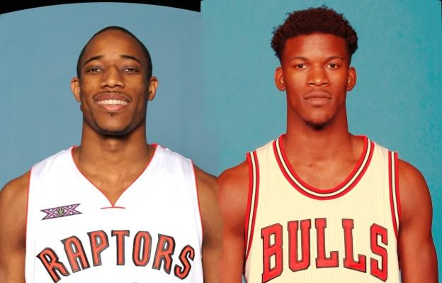 NBA Toronto Raptors DeMar DeRozan and Chicago Bulls Jimmy Butler