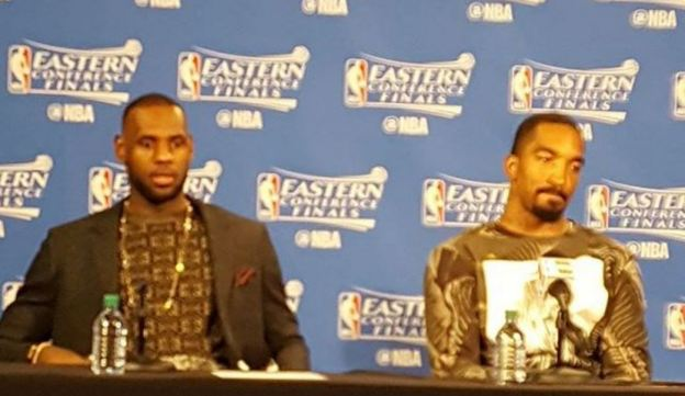 Cleveland Cavaliers LeBron James and JR Smith