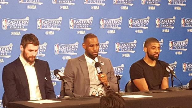 NBA playoffs Cleveland Cavaliers Lebron James - Kyrie Irving - Kevin Love