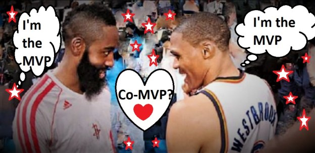 NBA Houston Rockets James Harden and Oklahoma City Thunder Russell Westbrook