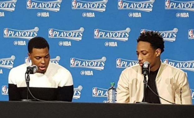NBA Toronto Raptors Kyle Lowry and DeMar DeRozan