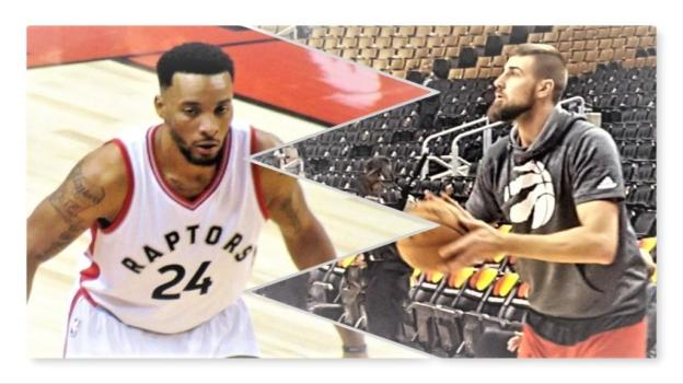 NBA Toronto Raptors Norman Powell and Jonas Valanciunas