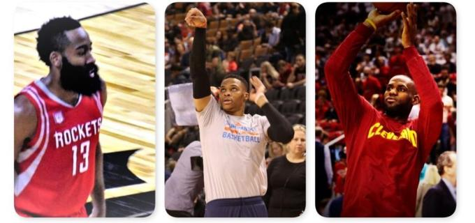 NBA Houston Rockets James Harden and OKC Thunder Russell Westbrook and Cleveland Cavaliers LeBron James