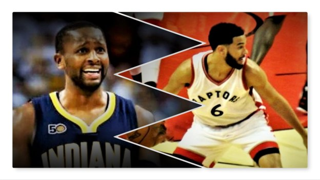NBA Indiana Pacers CJ Miles and Toronto Raptors Cory Joseph
