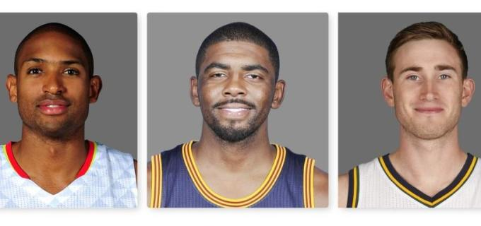 NBA Boston Celtics Al Horford and Kyrie Irving and Gordon Hayward 2017