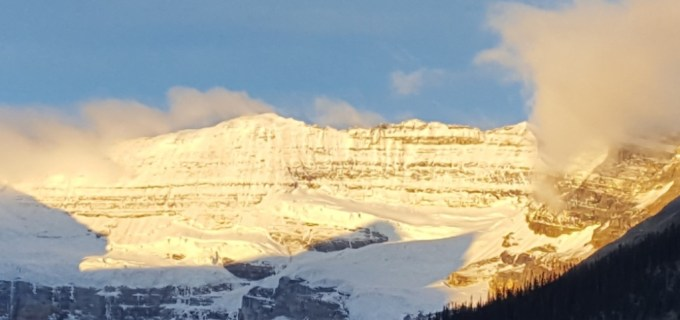 Golden Peaks of Lake Louise Alberta