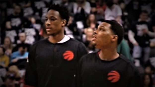 NBA Toronto Raptors DeMar DeRozan and Kyle Lowry