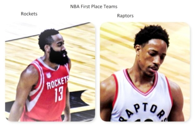 NBA Houston Rockets James Harden and Toronto Raptors DeMar DeRozan