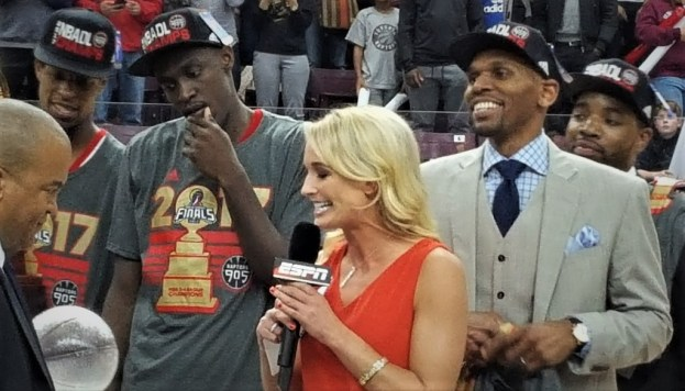 NBA Toronto Raptors Jerry Stackhouse and Pascal Siakam 2017