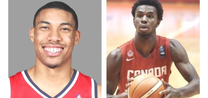 NBA Wizards Otto Porter and Timberwolves Andrew Wiggins