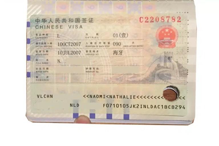 Chinese Visa to travel the Trans-Mongolian Railway
