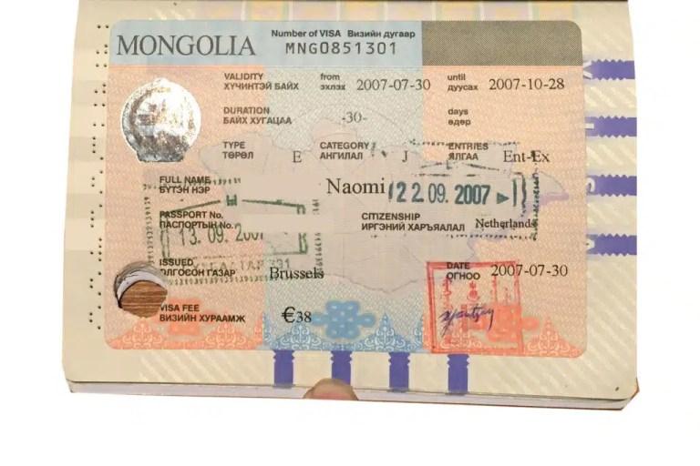 Mongolian visa to travel the Trans Mongolian Railway