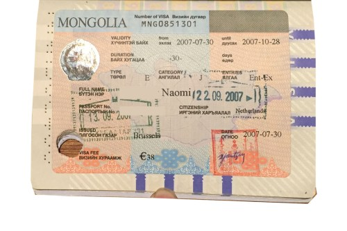 Mongolian visa to travel the Trans Mongolian Railway