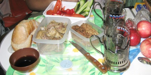 sharing food is a great way to make friends when you travel the Trans-Mongolian Railway