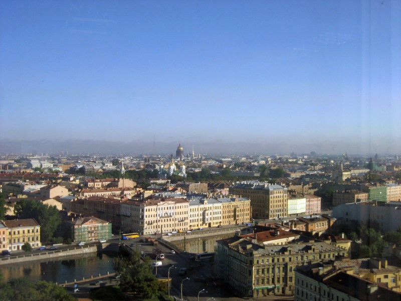 Aerial view on the city of St. Petersburg