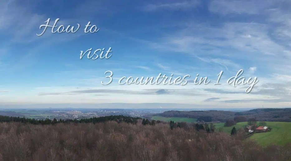 In Europe it's easy to hop from one border to another, but when you're short on time, you can maximise your time and visit multiple countries in 1 day.