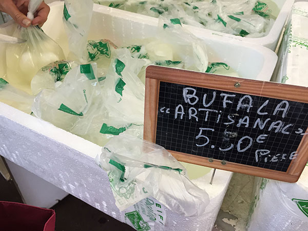 Do you look for an unique local experience in Nice? Try the food tour around Nice: You learn about the city AND get a taste of Nice on the Nice food tour. Trying some artisanal Buffalo mozzarella.