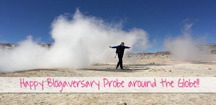 1 year blogiversary for my travel blog Probe around the Globe