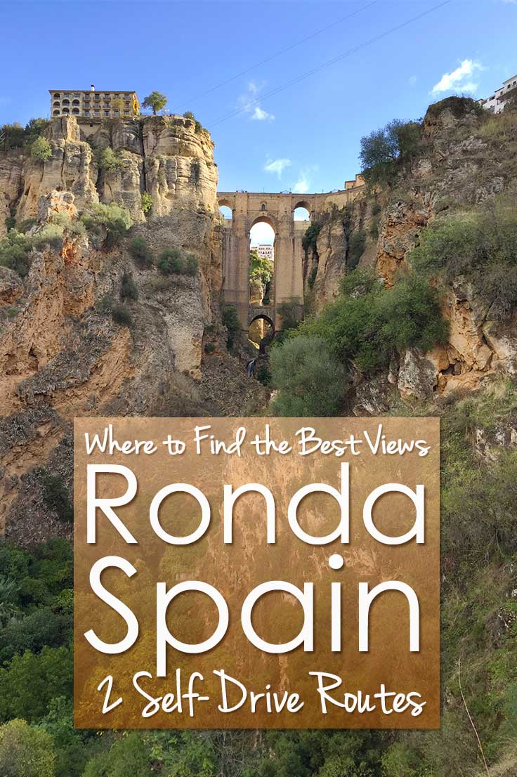 Everybody wants to travel to Ronda in Spain to see the famous bridge of Ronda. But where to find the best view of Ronda? I give you 2 self-drive routes around Ronda