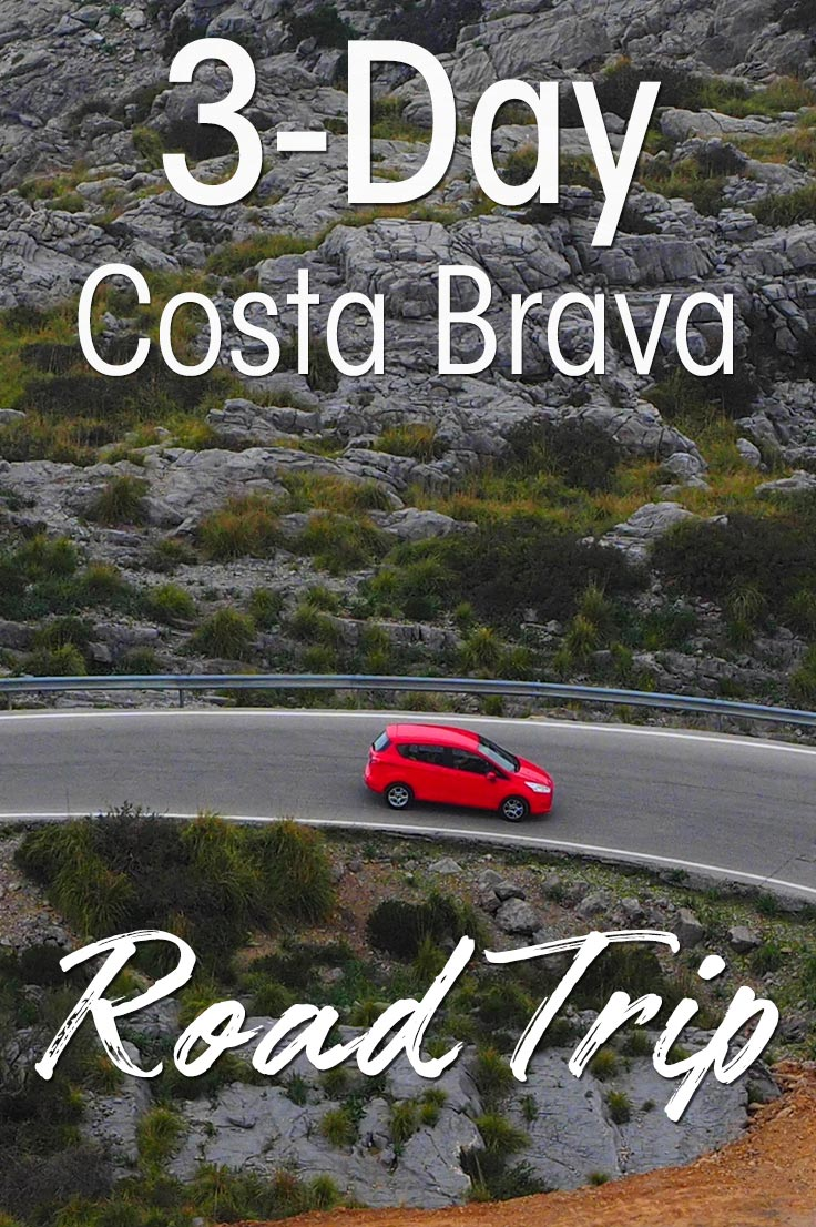 3-day Costa Brava road trip from Barcelona Spain. I share the places to stop, where to stay and eat and the best route to explore around Girona, Cadaquez and Figueres