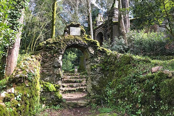 Bussaco Forest Portugal - ancient structures from the time it was a convent