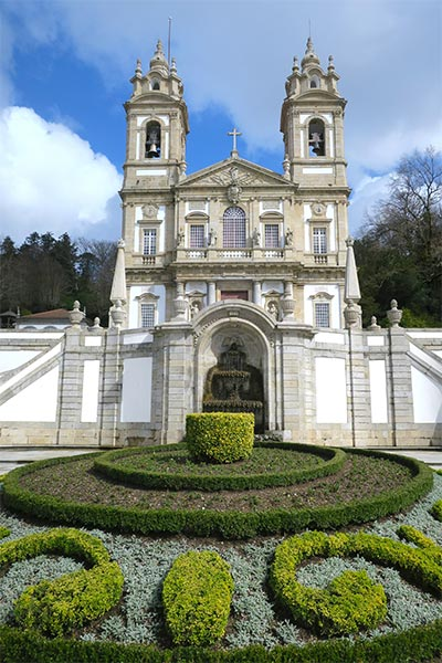The church of Bom Jesus do Monte church, close to Braga and Guimarães in Portugal