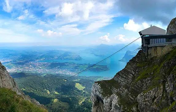Mythical Round Trip to Mt. Pilatus from Lucerne Switzerland