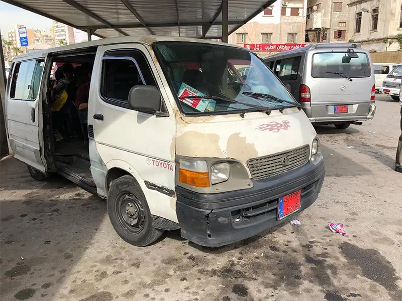 Your mini-van bus for the day trip with local transport from Beirut to Tyre and Sidon will probably look like this.