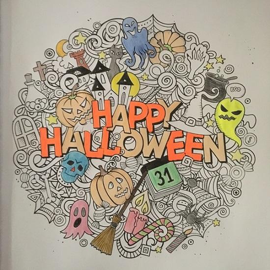 Happy Halloween mit BOSS Malbücher Happy Halloween Ausmalbild Probenqueen
