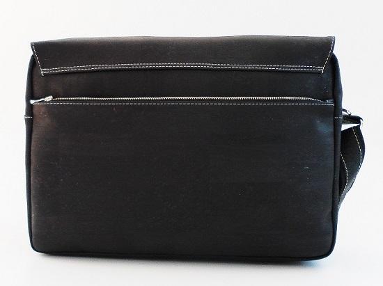 Businesstasche von Tikiwe schwarz Rückansicht Probenqueen
