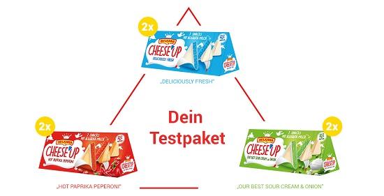 Produkttester für Milkana Käsedreiecke Inhalt Testpaket Probenqueen