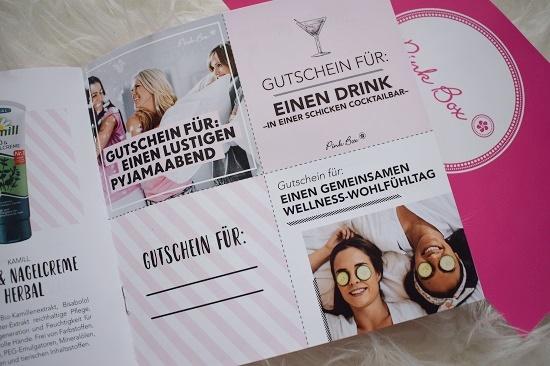 Pinkbox Wünsch Dir was Gutscheine Probenqueen