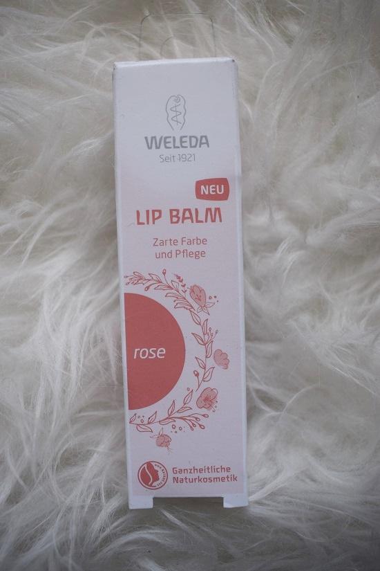 Pinkbox loves Joy Weleda Lip Balm Rose Probenqueen