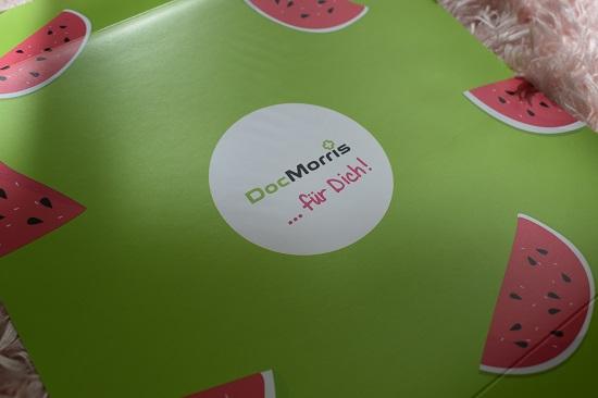 DocMorris für Dich Box Sommer Edition Design Cover mit Melonenstückchen - Probenqueen