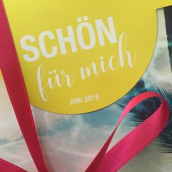 Schön für mich Box Juni 2018 Layout www.probenqueen.de