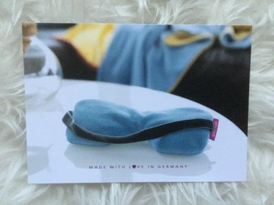Farbenfreunde Postkarte mit blauer Wellnessbrille www.probenqueen.de