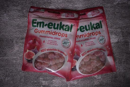 Bonbons von Em-Eukal zwei Beutel Gummidrops Granatapfel-Feige www.probenqueen.de