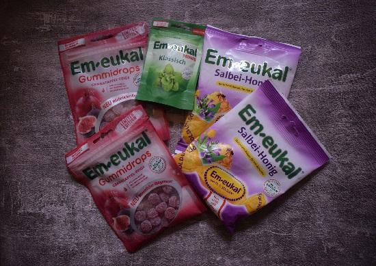 Bonbons von Em-Eukal verschiedene Sorten im Beutel www.probenqueen.de