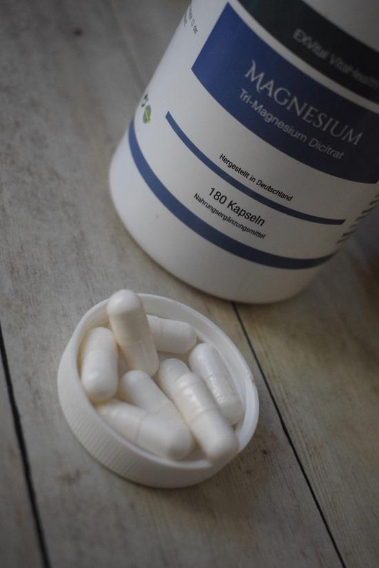 Magnesium von Exvital Kapslen im Dosendeckel www.probenqueen.de